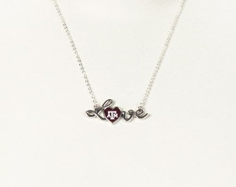 Texas A&M Love Necklace