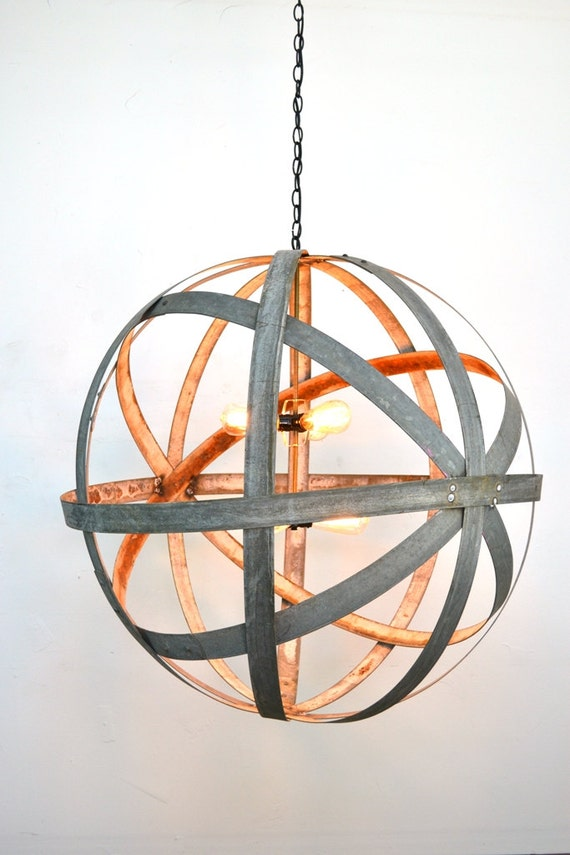 Wine Barrel Light Fixtures Made From Locally Sourced Re