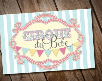 DIY Printable Cirque Du Bebe Poster INSTANT DOWNLOAD
