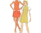 70s Shift Dress/ Vintage 1970s UNCUT Simplicity Raglan Shift Dress Sewing Pattern 6219/ Size 12