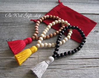 Made To Order Meditation Wrist Malas, 8mm Bead Wrist Mala,  Focus Jewelry