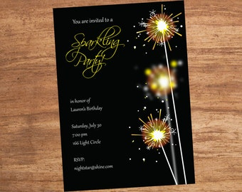 Sparkler Party Invitation