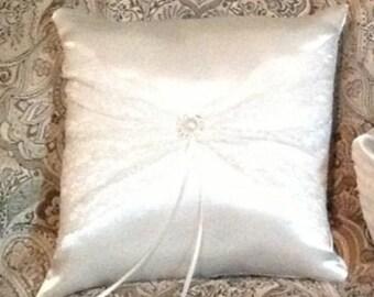 Ring bearer pillow white or ivory custom made