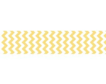 Riley Blake Chevron Ribbon in Yellow