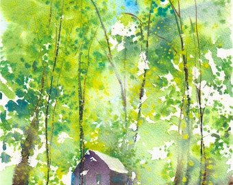 Camping Trip No.7, limited edition of 50 fine art giclee prints from my original watercolor