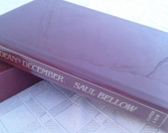 Vintage Signed Saul Bellow Book The Deans December Rare Book Chicago