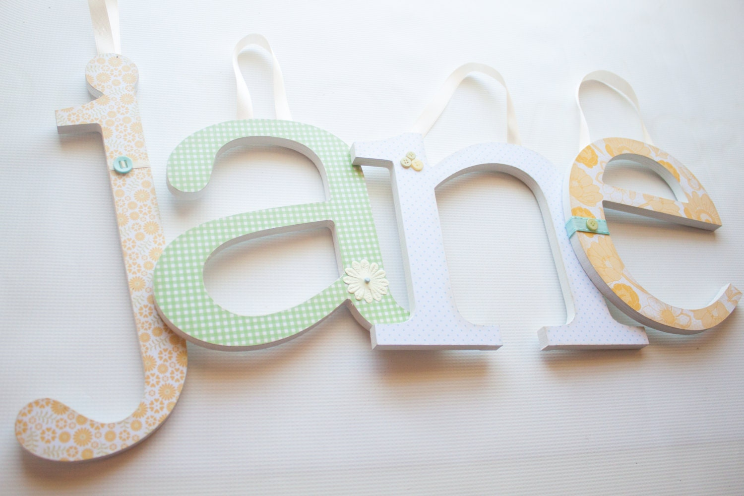 ... Nursery Wall Letters- Golden Garden Theme-wooden letters, wall letters
