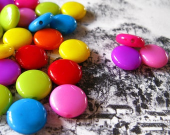 C178- 30pcs Chocolate Plastic Bead (Mixed Color)