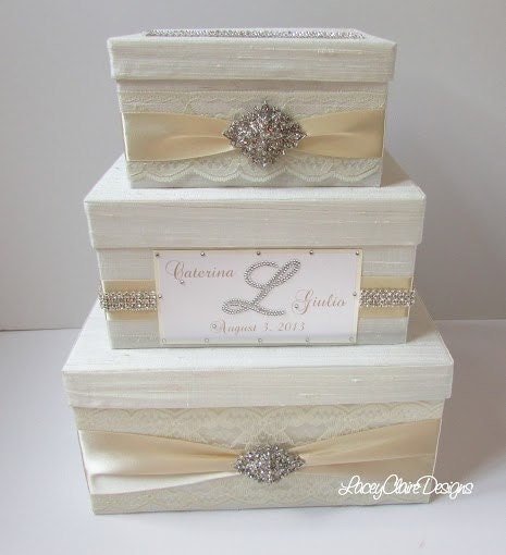 Wedding Card Box Bling Card Box Gift Card Box Rhinestone