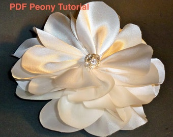 DIY Fabric Satin Peony Rose Flower Tutorial  - 2 variations