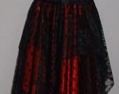 womens ladies NEW skirt black red pixie asymmetric gypsy maxi long boho steampunk goth fairy princess prom US size 6 8 10 12 14 16 18 20