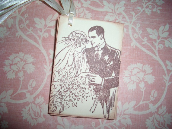Vintage Wedding Gifts For Bride And Groom : Wedding Gift Tags - Vintage Bride and Groom Gift Tags - Set of Six