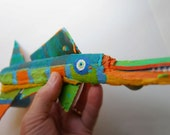 Whimsical Ready to Hang Fish Art - Colorful Funky Fish made from Recycled Driftwood and Painted with Brillient Color