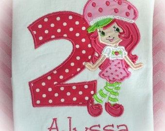 Personalized Boutique Strawberry Shortcake Birthday Shirt