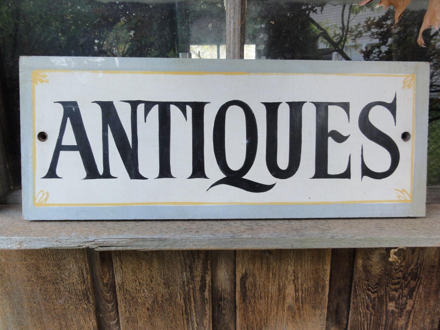 Hand painted Antique sign