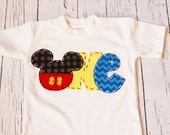 Mickey mouse birthday shirt, one, 1, girl boy t shirt,