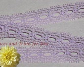 Lavender Lace Trim 12 Yards Vintage Beading 1/2 inch wide Lot M41 Added Items Ship No Charge