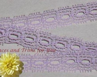 Lavender Lace Trim 12/24 Yards Vintage Beading 1/2 inch wide Lot M41 Added Items Ship No Charge