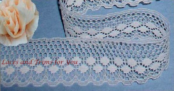 Ivory Lace Trim 12 Yards Scalloped Woven 1-1/4 inch wide Lot O11 Added Items Ship No Charge
