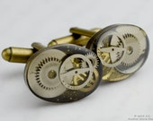 Custom Listing Reserved For Josh - Steampunk Gears, Watchparts, Brass Cufflinks, Gift for Him
