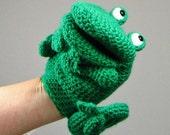 Crochet pattern: make a Frog Hand Puppet / Glove puppet  - INSTANT DOWNLOAD .pdf