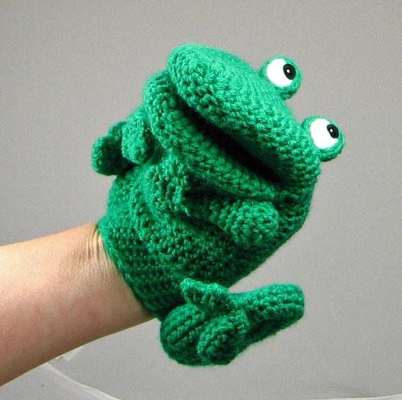 frog finger puppet template - crochet pattern make a frog hand puppet glove puppet