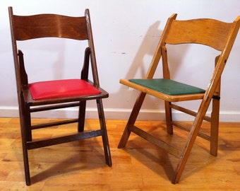 lot of 50 vintage wood folding chairs