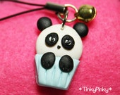 SALES Kawaii panda cell phone charm with a bell