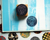 Custom Ex Libris Rubber Stamp - 1.5 inch Round - Simple Book Stamp with Any Name and Laurel wreath