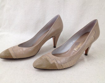 1980s shoes pumps high heels Evan Picone size 7