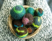 Colorful  needle felt catnip cat toys - Set of 5 - Free shipping
