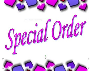 Special order add on for middle name