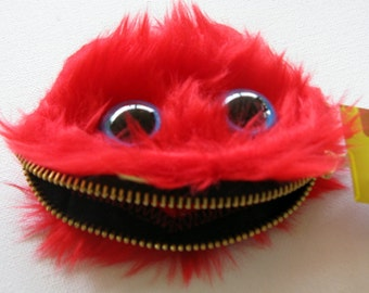 Furry Red Monster Coin Purse