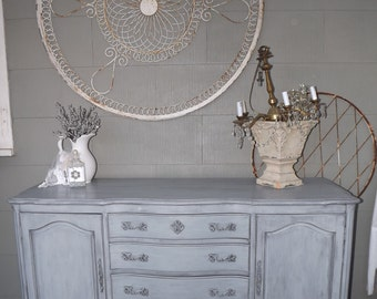 Sold! French Grey, Hand Painted. Distressed, Dresser/Buffet