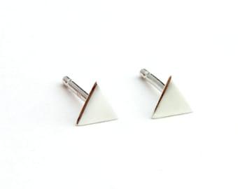 Mini Back to Basics-Triangle Earrings in Silver