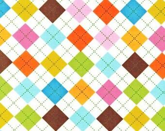 Remix Summer Argyle Cotton from Robert Kaufman