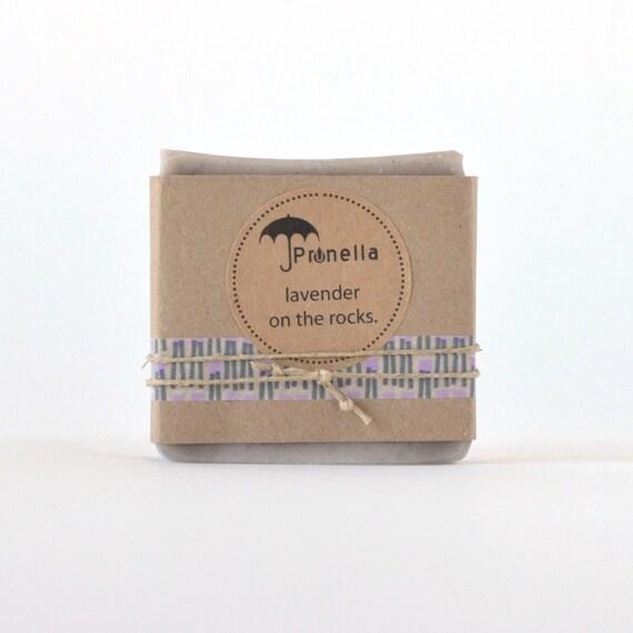 SUMMER SALE Lavender on the Rocks Handmade Soap - 5 oz. bar