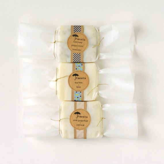 Choose Any 3 Bars of Prunella Soap - Candy Wrapping