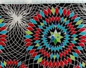 Geometric Printed Crepe De Chine Designer Silk Fabric - SpiralChic - SIC/157-CDC