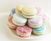 Lace Macaron purse/ Jewellery Box/ large macaron coin purse/Romantic lace/macaroon Coin or Jewelry pouch-MCL801