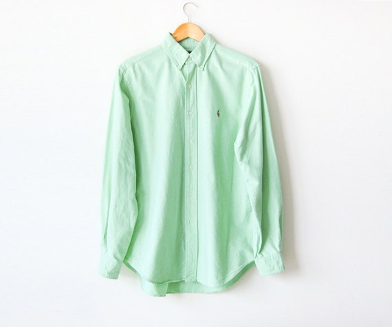 Mens Mint Button Up Shirt | Artee Shirt