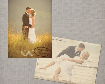 """Vintage Wedding Thank You Cards / Wedding thank yous / Wedding Thank You Cards / Thank you Cards / Thank you postcard - the """"August"""""""