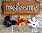 Mickey inspired birthday ornaments