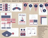 Nautical Birthday Party Package - Printable