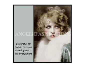Magnet - Be careful not to trip over my amazingness … it's everywhere - Vintage Woman