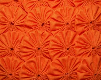 30 Bright Orange 2 inch Yo Yos Applique Quilt Pieces Scrapbooking Embellishment