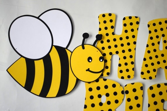 BUMBLE BEE Birthday BANNER Honey Bee Party Decorations Bug