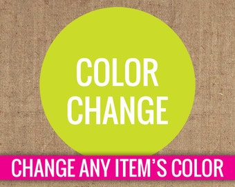 Change the Color of Any One Item