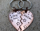 "Star Wars Broken Hearts - I love you / I know - 1 3/4"" Copper Heart keychain  -Made to order-"