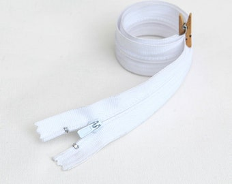 50cm (19.5 inches) zipper 55283-5 white